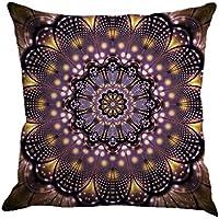 Winwintom Geometría pintura lino funda de Cojin almohada caso sofa (Color D)