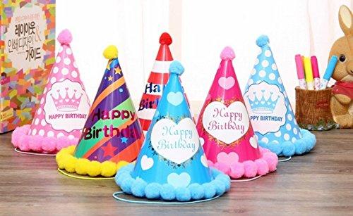 Biee party hats rifornimenti partito decorazioni colorate per bambini e adulti - chiristmas, compleanno, riunioni di famiglia, laurea, addio al nubilato do feste e altre festival e parti(6 pcs)