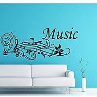 Wall Applique Notes, Wave Music Notes, Recording Studio, Home Decor