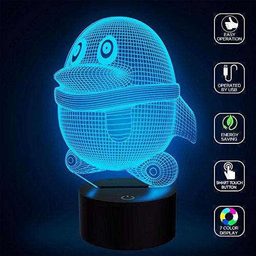 Fantastisches Geschenk ( Nette Pinguin-Illusion-Licht-LED-Nachtlichter, FZAI-Neuheit-Noten-Tabellen-Schreibtisch-Lampen-Ausgangsdekoration 7 Farben-einzigartige Beleuchtungseffekte für fantastisches Geschenk der Kinder)