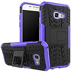 Samsung Galaxy A3 2017 Case,tough Rubber Rugged Hardsoft Slim Protective Shockproof Heavy Duty Combo Hybrid Rugged Shell 4.7 Inch