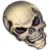 3D Stickers Voiture Tête de mort Chromé tuning car sticker New Métal cuivre