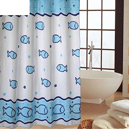 cuarto de baño cortina de ducha/ baño/Cortina de ducha de moho resistente al agua/ cortina-F