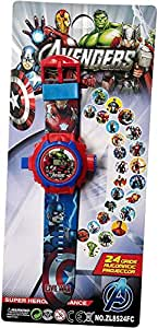 """ASU Kid's """"Avenger """" Projector Toy Watch with 24 Automatic Projector Grids Education Cartoon Grid Projector Toy(Best for Birthday Gift and Kids Gift)."""