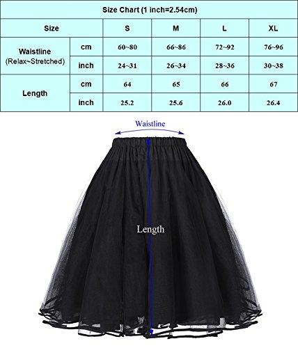 50s Vintage Petticoat Unterrock Petticoat Weiss XL BP229-2 -