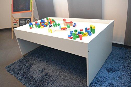 Preisvergleich Produktbild Spieltisch aus Holz, weiß ca.116x72x45cm (weiß)