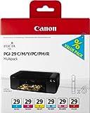 Canon PGI-29 C/M/Y/PC/PM/R Original Tintenpatronen, Multipack je 36ml cyan, magenta, gelb, foto-cyan, foto-magenta, rot