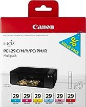 Canon 4873B005 Cartouche d'encre d'origine Cyan/Magenta/Jaune/Photo cyan/Photo magenta/Rouge
