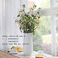 Xin Pang Jarrones De Cristal Mesa De Comedor Decorado Inlayed Ornamentos Florales Flores Artificiales De Seda