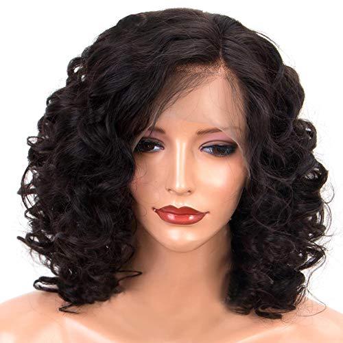Kurze Bob Perücke Natürliche Schwarze Haarperücken mit atmungsaktiver Perücke Kappe Geeignet für jeden Tag, Party, Kostüm