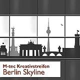 Kreative Sichtschutzstreifen - Motiv Berlin Skyline ✔ 1A PVC Qualität ✔ 4 Streifen (2er Pack) ✔ - Sie KAUFEN Hier Direkt Beim Hersteller -