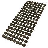 Adsamm | 128 x almohadillas de fieltro | Ø 12 mm | marrón | redondo | Protectores de suelo para patas de mueble | auto-adhesivos | con grosor de 3,5 mm de la máxima calidad