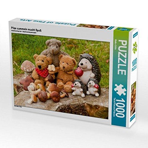 Pilze sammeln macht Spaß 1000 Teile Puzzle quer: Teddys (CALVENDO Hobbys)