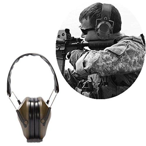Wawer Taktische Schallisolierung Ohrenschützer Muffs Sicherheit Schießen Jagd Noise Cancelling Dimension der Ohrenschützer 14,5 * 12 * 23,5 cm faltbare Stirnband (Armeegrün)