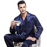Mens Silk Satin Pajamas Set Sleepwear Loungewear S~3XL Plus__Gifts