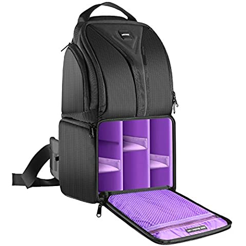 Neewer Camera Sling Backpack Case 9.8x7.9x16.9 inches Waterproof Lightweight and Durable for DSLR and Mirrorless Camera (Canon Nikon Sony Pentax Olympus Fujifilm Panasonic) Purple