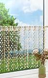 LYSEL Scheibengardine Blütenschnürchen (Bx H) 95cm * 50cm braun/beige