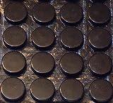 Große, schwarze, runde und selbstklebende 3M-Gummifüße, 16 x 5mm (Durchmesser x Höhe)  12 Individual Bumpons farblos