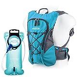 OVERMONT Zaino per la borsa idratazione, Zaino idratazione, Zaino borraccia, Sacca Idratazione per Ciclismo, Escursione, Corsa, Campeggio, Trekking-Blu