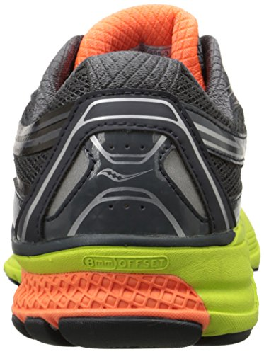 Saucony Guide 9, Chaussures de Running Compétition Homme Gris (Grey (Midnight/Citron/Orange)Midnight/Citron/Orange)