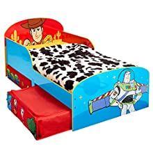 Disney Toy Story 4 Kids Toddler Bed with Storage Drawers by HelloHome, 143cm (L) x 77cm (W) x 63cm