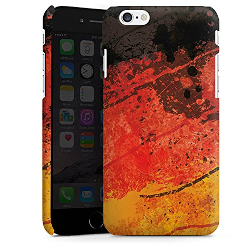 Apple iPhone X Silikon Hülle Case Schutzhülle Deutschlandflagge Deutschland Flagge Germany Premium Case matt