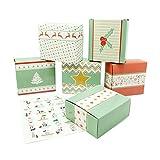 pajoma Calendrier de l'Avent à bricoler, jeu de 24boîtes à remplir, avec autocollants à motif nombre, Noël