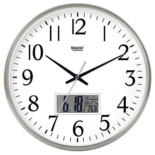Mmynl.c non vola silenzioso matt moderno orologio a parete fai da te per soggiorno camere cucine ufficio 14 pollici