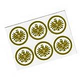 Eintracht Frankfurt Aufkleber / Autoaufkleber / Sticker 6er Set gold - plus gratis Aufkleber forever Frankfurt