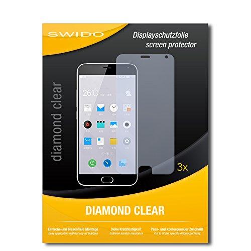 3 x SWIDO® Schutzfolie Meizu M2 Note Bildschirmschutz Folie