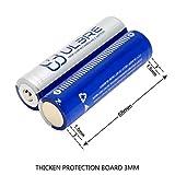 ULBRE 18650 batteries 2pcs Li-ion Rechargeable Accu Pile 3.7V 2200mAh pour Lampes Frontales/Lampe de Poche/Lampe Torche