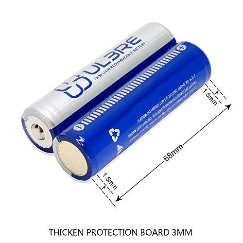 Galleria fotografica ULBRE Batteria Ricaricabile Pile Ricaricabili 2200mAh Li-on Batteria 2pcs per le banche torcia elettrica/proiettori/potenza