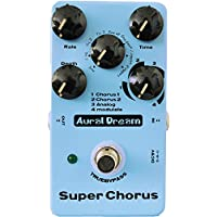Aural Dream Super Chorus Guitar Effect Pedal with 4 modes and 8 waves reaching 32 chorus effects True bypass