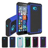 Microsoft Lumia 550 /Nokia Lumia 550 Hülle, Nnopbeclik Dual Layer Rugged Armor stoßfest Handy Schutzhülle Silikon Tasche für Microsoft Lumia 550 /Nokia Lumia 550 - Blau + 1x Display Schutzfolie Folie