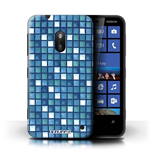 iCHOOSE Print Motif Coque de protection Case / Plastique manchon de telephone Coque pour iPhone 6+/Plus 5.5 / Collection Carreau Bain / Jaune/Marron Bleu/Blanc