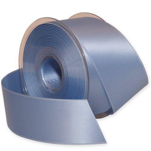 Morex Ribbon Double-Face Swiss Satin Ribbon, 1-1/2-Inch by 27-Yard Spool, Lt Blue by Morex Ribbon -