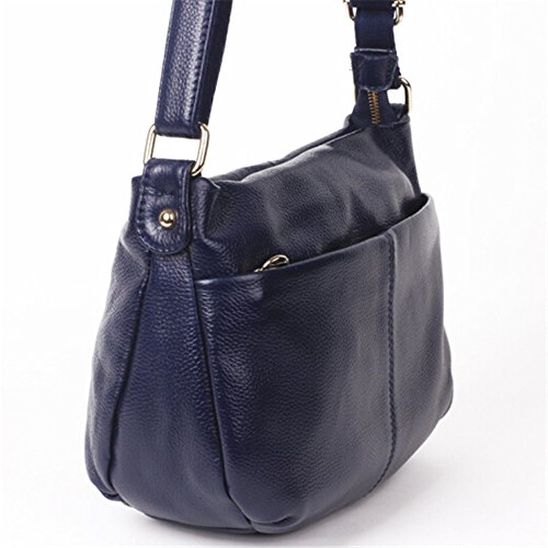 neue handtaschen aus leder und leder - messenger - bag königsblau