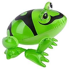 Idea Regalo - TOYMYTOY Rana gonfiabile con lampeggiante Gonfiabili palloncini gonfiabili per animali Giocattoli divertenti per festini divertenti (senza luce)