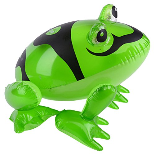 TOYANDONA Andar Animal Balloons Frog Balloon Air Walkers Juguete Inflable con luz para niños Suministros de Fiesta de cumpleaños Favores Suministros Decoración
