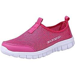 BaZhaHei-Zapatillas Zapatillas de Mujer Deporte Planas de Malla Transpirable Zapatos Casuales de Zapatos de Malla Aire Libre para Mujer Slip Casual en Suelas cómodas Running Deportivos