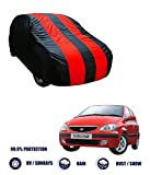 Fabtec Red & Blue Car Body Cover- Tata Indica V2 (Tirpal)