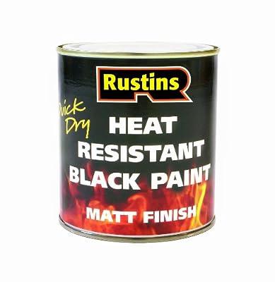 Rustins Hrmb250 250ml Heat Resistant Paint - Black from Rustins