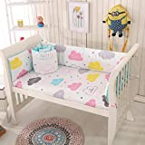 Baby Infant Crib Bumper Pads Bed Cotton Safety Rail Guard Breathable, Cradle...