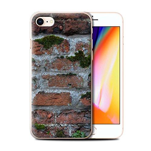 Stuff4 Hülle / Case für Apple iPhone 8 / Moos Grün Muster / Mauerwerk Kollektion Moos Grün