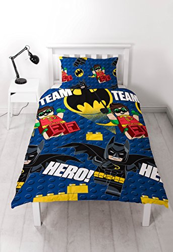 LEGO Batman Movie Hero Duvet, Repeat Print Design - Single