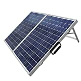 ECO-WORTHY Solar Panel 100W Portable Kit -100W 2x50W Folding PV Solar Panel 12V RV Boat Off Grid W 15A Charge Controller