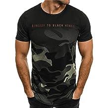 ❤️Amlaiworld Camiseta de camuflaje Hombre militares camisetas deporte ropa deportiva Camisa de manga corta de