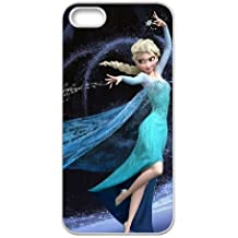 iphone5 5s White phone case Frozen Disney Cartoon Elsa and Anna Best Xmas Gift for Girlfriend UGD8027467