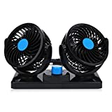 Auto Kfz Lüfter Ventilator mit 2 Geschwindigkeiten und 360-Grad-Drehung Einstellbare...
