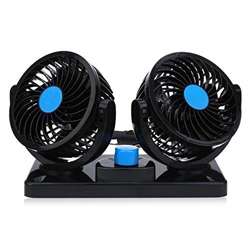 Preisvergleich Produktbild Mitchell HX-T303 Auto Kfz Lüfter Ventilator mit 2 Geschwindigkeiten und 360-Grad-Drehung Einstellbare Leistungsstarke Gebläse Luftfilte